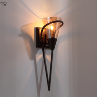 American Country Retro Decorative Wall Lamp Industrial Vintage Wall Sconce Wall Lights Background Staircase Aisle Study Bedroom