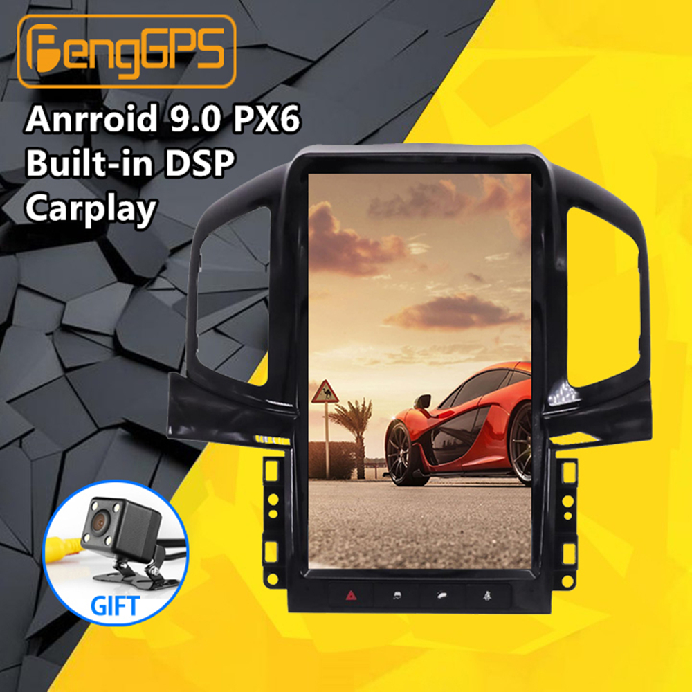 Tesla Style Android 8.1 Car Radio GPS Navigation For Chevrolet Captiva 2013 2014 2015 2016 2017 Car Stereo No DVD Player Vehicle