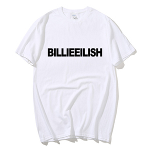 Hot sale New 2020 Summer Fashion T Shirts BILLIEEILISH T-Shirt men cotton Black pop Men's Tshirt Tee Size XS to 2XL streetwear