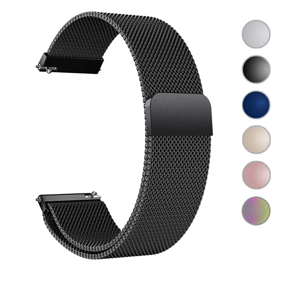 For Samsung Galaxy Watch Active 2 44mm 40mm Active2 Quick Release Watch Strap Band Milanese Magnetic Stainless Steel Watchband
