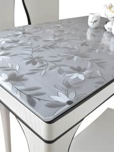 PVC Tablecloth Cosmos Soft-Glass-Protection Custom Kitchen Transparent Thickened Waterproof