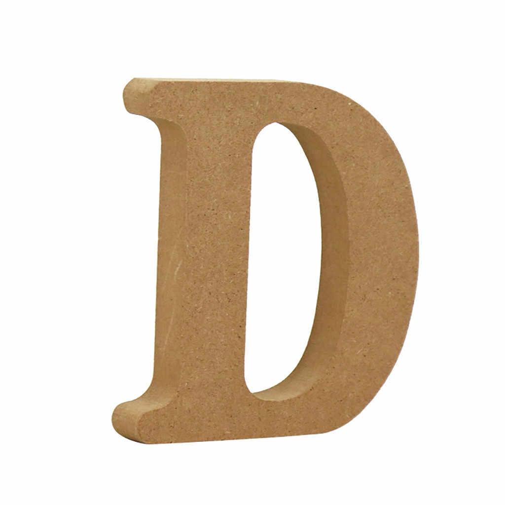 1Pcทองตัวอักษรไม้ตัวอักษรภาษาอังกฤษWordส่วนบุคคลชื่อDesign Art Craftฟรียืนรูปหัวใจงานแต่งงานDecor