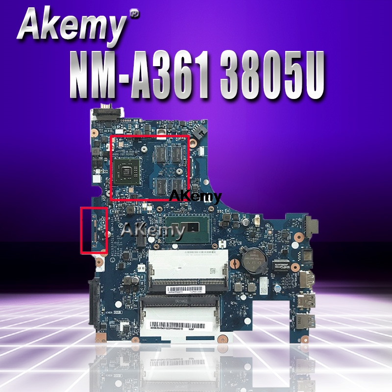 ACLU3/ACLU4 <font><b>NM</b></font>-<font><b>A361</b></font> motherboard for Lenovo G50-80 G50-80M notebook motherboard CPU 3805U R5 M330 DDR3 100% test image