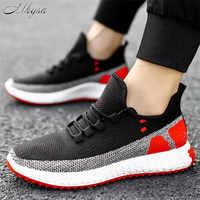 Mhysa 2020 New Mesh Men Casual Shoes Men Shoes Lightweight Comfortable Walking men Sneakers Tenis masculino Zapatillas Hombre