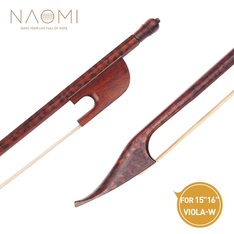 NAOMI Professional 16 Inch Viola Bow Traditional Baroque Style Bow Frog Natural Horsehair Durable Use