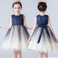 Applique vestidos da menina 2019 verão elegante vestido para crianças festa de aniversário vestidos de baile menina vestidos de casamento infantil 3 5 8 t