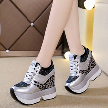 2020 Brand Platform Shoes Woman Breathable Height Increasing Women Shoes Lace-Up Wedges Platform Sneakers Woman Casual Shoes W68 woman sneakers metallic color woman shoes front lace up woman casual shoes low top rivets embellished platform woman flats brand