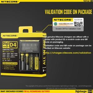 Image 4 - الأصلي Nitecore D4 شاحن بطارية LCD الذكية شحن ل 18650 14500 16340 26650 بطاريات 12 فولت شاحن ل AA AAA بطاريات