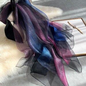 Image 5 - 2020 nowy jedwab szalik wełniany kobiety moda szale i okłady pani podróży Pashmina wysokiej jakości szale zimowe szyi Wram Bandana