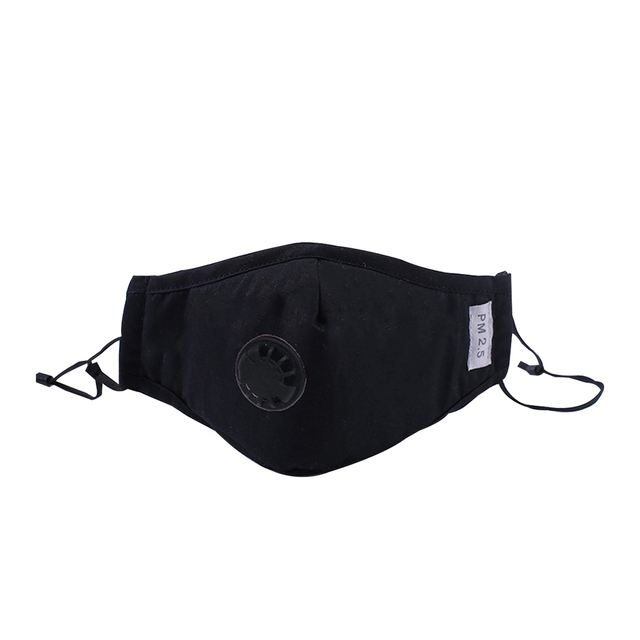 Bacteria proof Flu Face masks Care Cotton PM2.5 Black mouth Mask anti dust mask Activated carbon filter Windproof Mouth-muffle