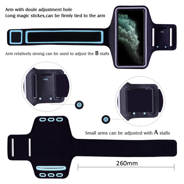 Waterproof Sports Running Workout Gym Arm Band Case For iPhone 12 mini 11 Pro XS Max XR X 8 7 6 6S Plus SE 2020 5 5S Cover Bag 3