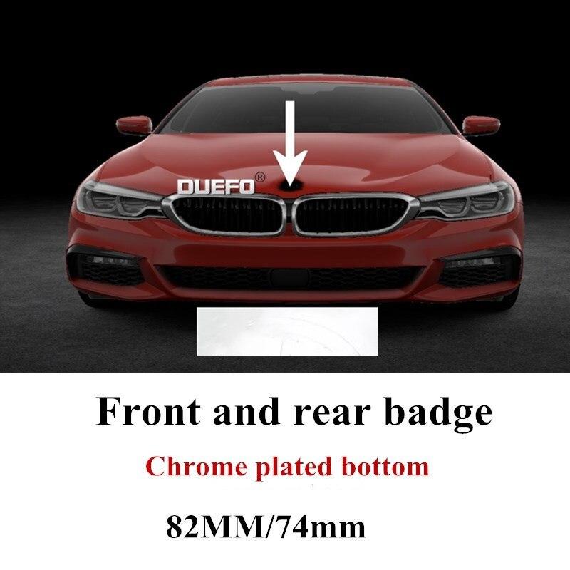 1pc 82mm/74mm Car Emblem Badge Hood Front Rear Trunk Logo for E46 E39 E38 E90 E60 Z3 Z4 X3 X5 X6 P/N.51148132375