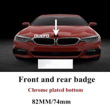 1pc 82mm/74mm emblème de voiture insigne capot avant arrière coffre Logo pour bmw E46 E39 E38 E90 E60 Z3 Z4 X3 X5 X6 P/N.51148132375