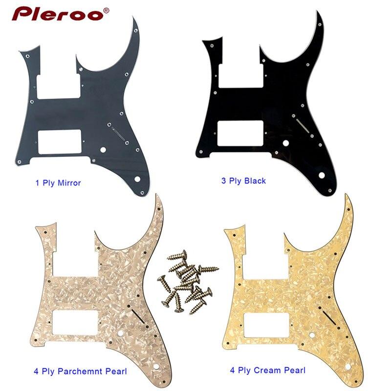 Pleroo Custom Electric Guitar Parts - For Ibanez MIJ RG 350 DXZ  Guitar Pickguard HH Humbucker Pickup Scratch Plate Multiple Col