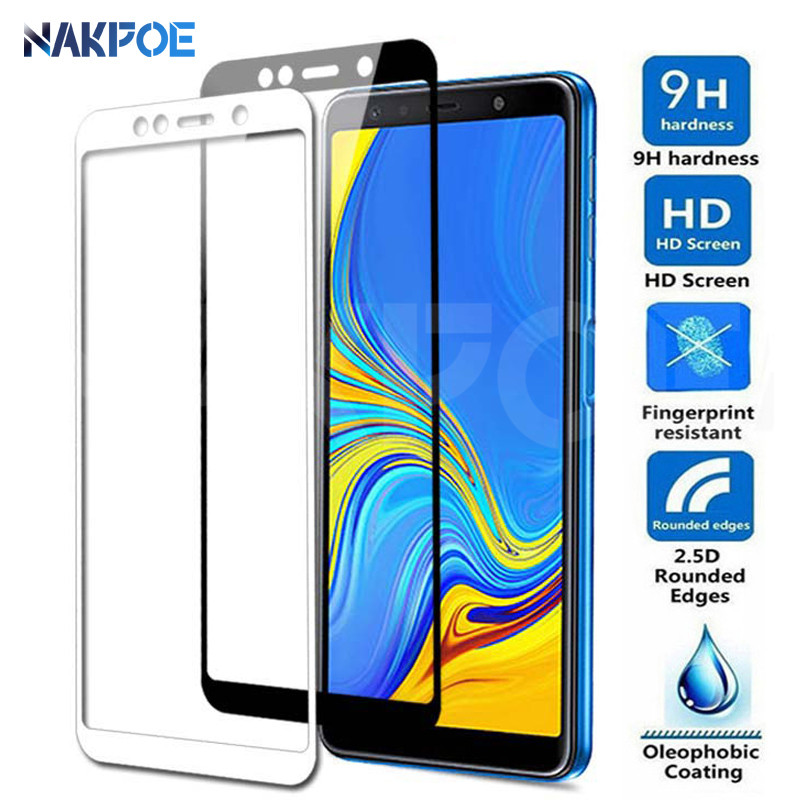 9D <font><b>Full</b></font> <font><b>Cover</b></font> Tempered <font><b>Glass</b></font> on the For <font><b>Samsung</b></font> <font><b>Galaxy</b></font> A3 <font><b>A5</b></font> A7 <font><b>2016</b></font> 2017 A6 A8 Plus A9 2018 Screen Protector Protective Film image