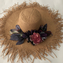 ZJBECHAHMU Fashion New Solid Elegant Straw Sun Hats For Women Girl Summer Caps Wedding outdoor holiday sunshade beach hats