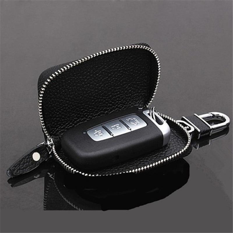 PU Leather Car Key Wallets Men Key Holder Housekeeper Keys Organizer Women Keychain Covers Zipper Key Case Bag Pouch Purse