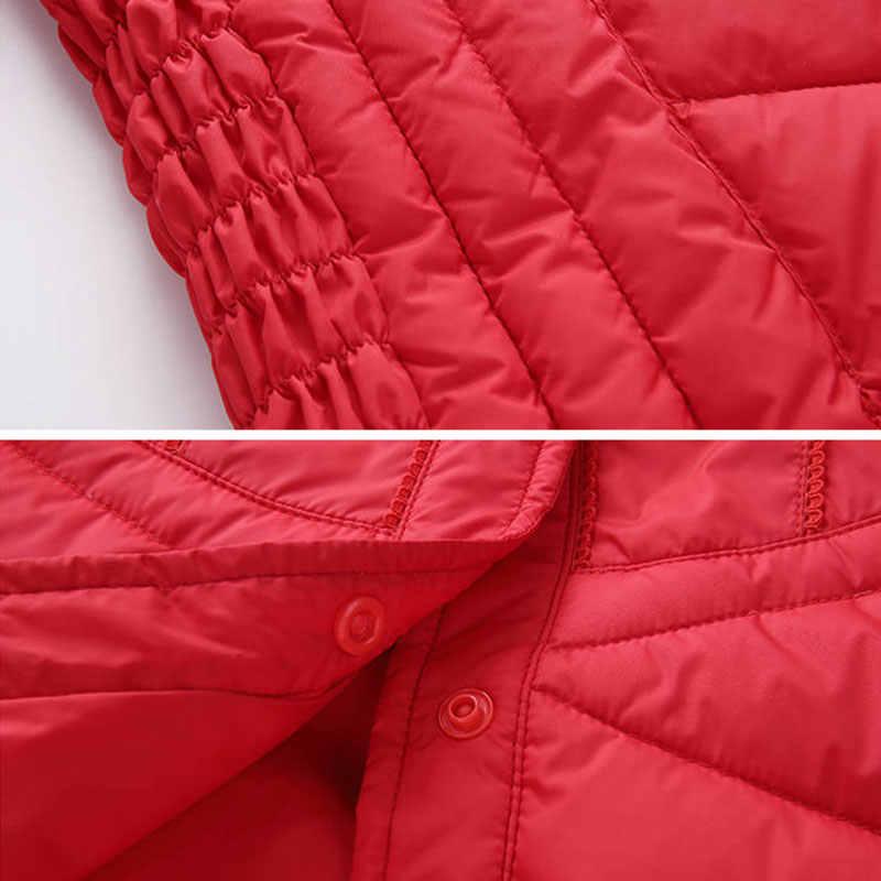 가을 겨울 따뜻한 화이트 오리 코트 여성 새로운 패션 캐주얼 기본 짧은 자 켓 여성 겉옷 플러스 크기 P106