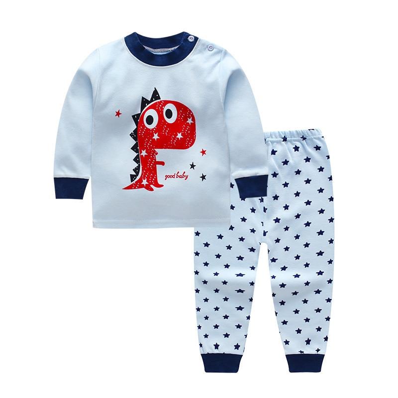 TUONXYE Children's Pajamas Kids Cartoon Lion Pajamas Set Baby Boys Long Sleeve Pyjamas Child Pijama Infantil Girls Night wear 1