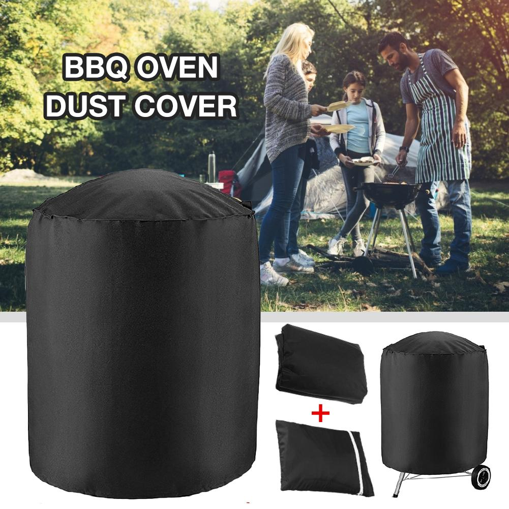 Home Garden BBQ Cover 210D Waterproof Dust proof Cloth Oven Dust Cover Round Grill Cover Garden Patio Kettle Barbecue Protector|Cleaning Cloths| |  - title=