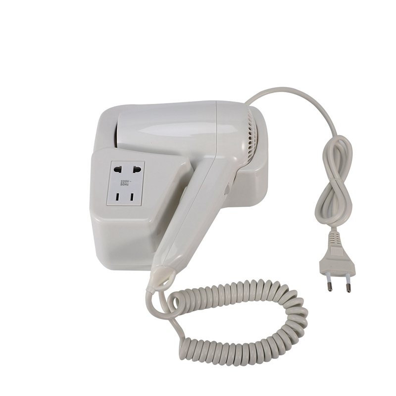 AD-Hotel Bathroom 1300-Watt Wall-Mounted with Landline Dryer Hair Dryer White EU Plug image