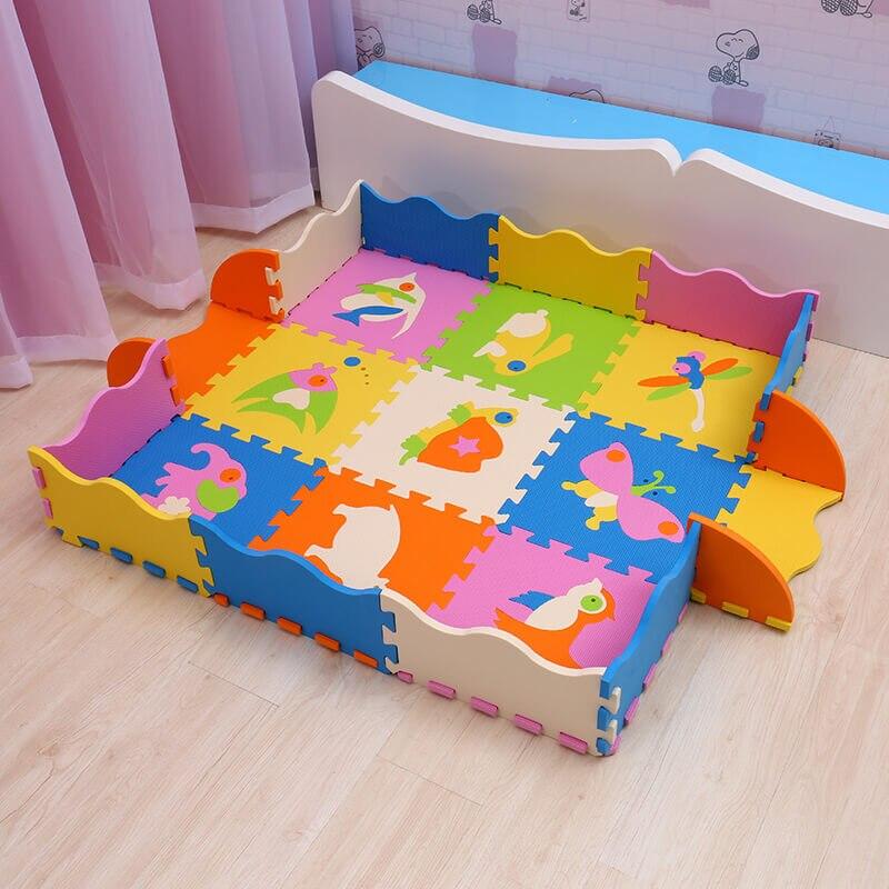 EVA bébé tapis de jeu 9 pièces mousse puzzle tapis pour enfants gym bébé activité doux étage numéros animaux modèle jouets Mei Qi Cool - 5