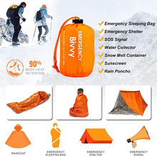 Saco bivy compacto sobrevivência emergência saco de dormir portátil à prova dmyágua reutilizável térmica sacos de dormir mylar sobrevivência cobertor