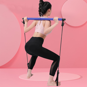 NEW Yoga Pull Rods Portable Home Yoga Gym Body Abdominal Resistance Bands for Pilates Exercise Stick Toning Bar Fitness Rope Pul