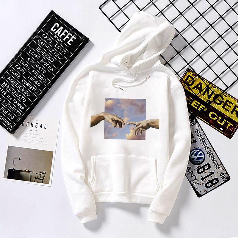 Permalink to New Women Hoodies Michelangelo Print White Hoodies Sweatshirt Summer Tops Female Oversized Short Sleeve Harajuku Woman Clothes