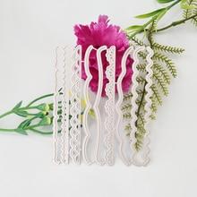 9pcs/Set Decorative Cards Edges Lace Border Metal Cutting Dies Stencil for DIY Scrapbooking Album Embossing Crafts Die