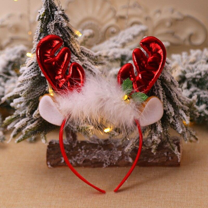 Рождественская шапка, повязка на голову, Рождественская декоративная шапка, повязка на голову, косплей, вечерние, шоу, повязка на голову, обруч для волос аксессуары для взрослых детей, Navidad - Цвет: E