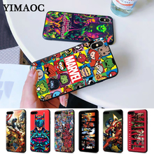 Marvel Comics logo DIY Printing Drawing Silicone Case for iPhone 5 5S 6 6S Plus 7 8 11 Pro X XS Max XR
