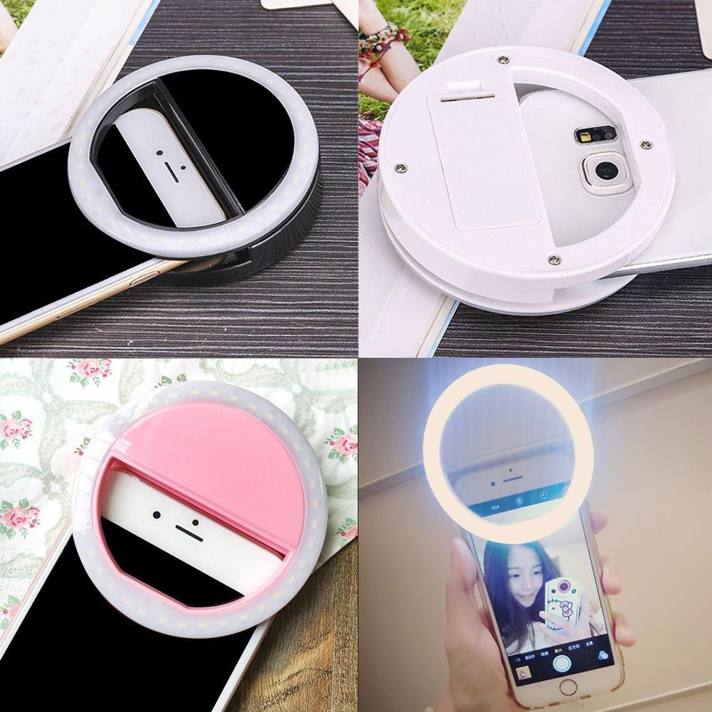 Selfie Sticks Portable Clip Fill Light Selfie LED Ring Photography For IPhone Android Phone Handheld Gimbal