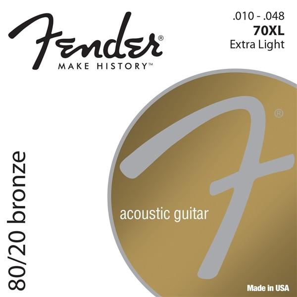 Fender 80/20 Bronze Acoustic Guitar Strings, 70XL 70CL 70L 70M