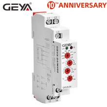 Free Shipping GEYA GRV8-04 Three Phase Voltage Control Relay Phase Sequence Phase Failure Over Voltage Undervoltage Protection the phase protection relay 380v power broken phase fault phase overvoltage and undervoltage detection monitoring rd6 w