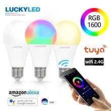 LUCKYLED 7W 9W Smart Light Bulb WiFi APP Control Led Lamp E27 Bombillas Dimmable Led Bulb 220v 240v 110V RGB + W+WW RGB lampada 1 x mi light ac86 265v e27 9w cw ww led lamp color temperature dimmable led bulb 1 x 2 4g wireless ios android wifi controller