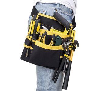 Image 4 - FGHGF hohe qualität Multi funktions Oxford Tuch Elektriker Werkzeuge Tasche Taille Beutel Gürtel Lagerung Inhaber Organizer