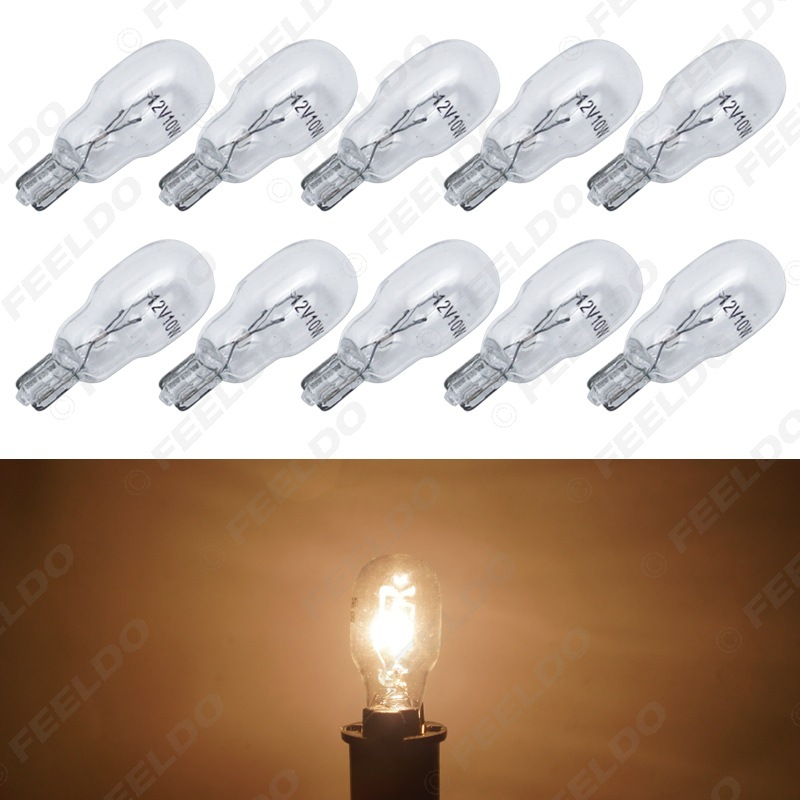 Automotive Halogen Bulb 12V 10W T13 Automobile Instrument Light Width Lamp Flat Pin Small Lamp For Cars Warm White