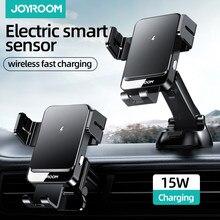 Joyroom – Support de chargeur de téléphone portable pour voiture, 15W, recharge sans fil pour Iphone, Samsung, sortie d'air automatique