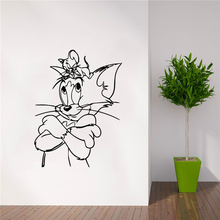 NEW Tom cat jerry Mouse Wall Art Decal Pvc Material Stickers Wall Decals For Kids Room vinyl Wall Sticker Mural Wallpaper new tom cat jerry mouse wall art decal pvc material stickers wall decals for kids room vinyl wall sticker mural wallpaper
