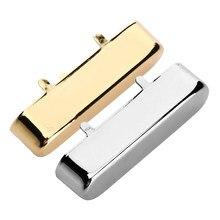 Латунная накладка на шею для TL для запчастей для электрической гитары Telecaster, золотистая/хромированная