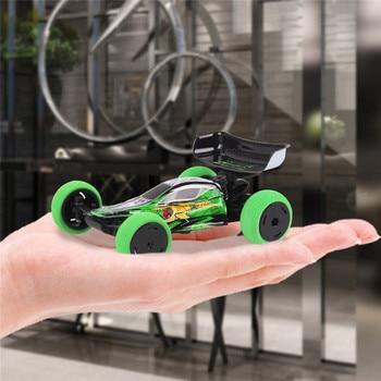 цена на Mini Stunt RC Car 1/32 2.4G 6CH Radio Remote Control Trick Car with LED Light 2019 New Small Fashion Toys for Kids Children Gift