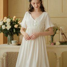 Летняя женская обувь винтажный дворцовый наряд Стиль рубашки