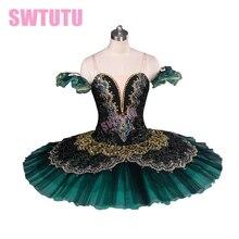 Adult black green professional tutu,red ballet tutus for performance swan costume girls tutuBT8941