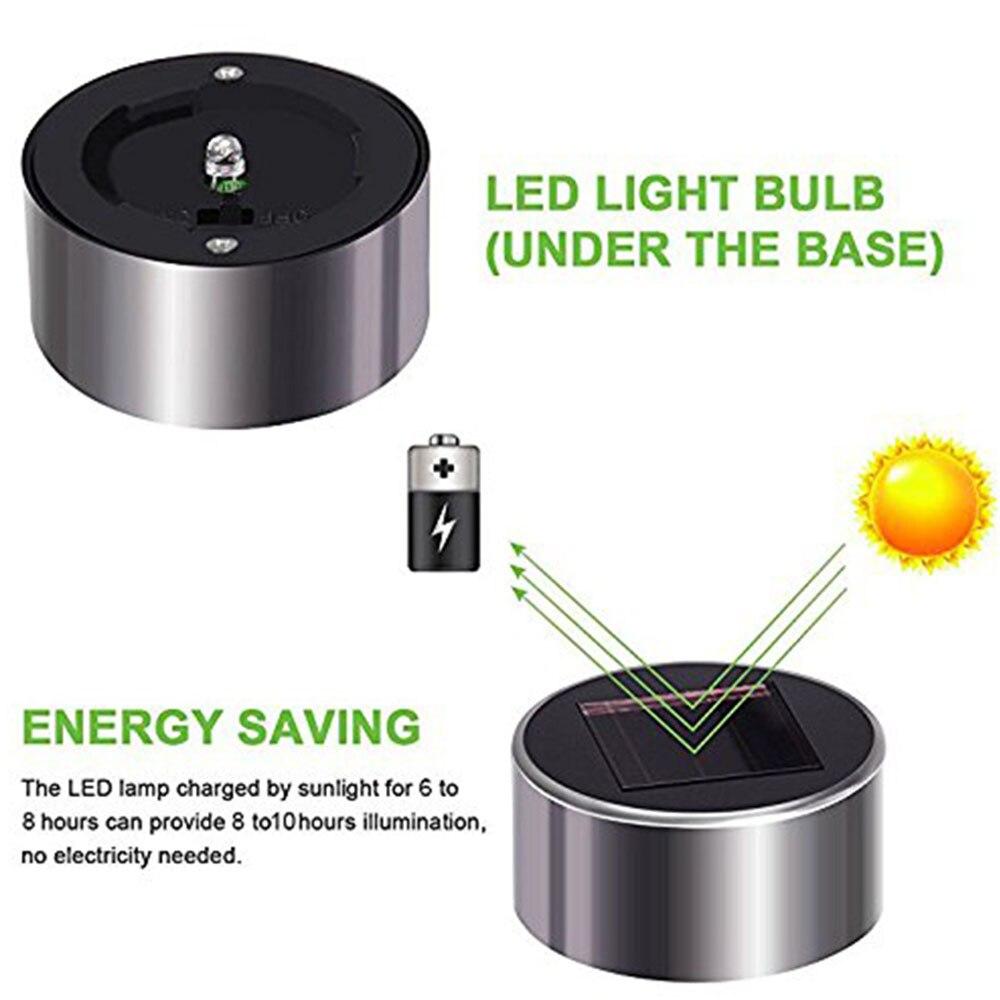 Image 5 - 10 sztuk/partia ze stali nierdzewnej LED Solar trawnik światła na zewnątrz energii słonecznej Decking światła IP65 wodoodporny Mini Solar Garden LightLampy solarne   -
