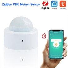 Tuya zigbee inteligente pir sensor de movimento sistema de alarme sensores detecção do corpo humano detector de movimento para iluminação automação residencial