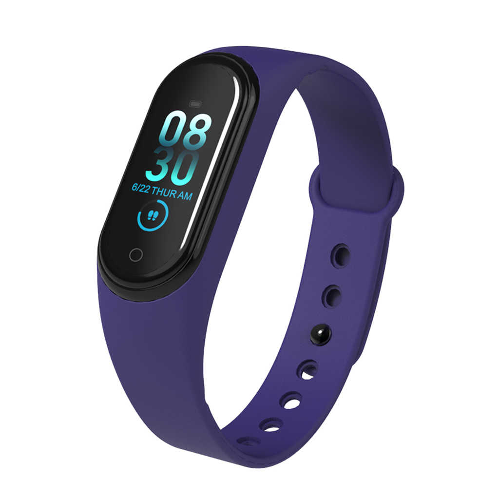 M4 Smart Gelang Smart Gelang Band 4 Tahan Air Smart Band Tekanan Darah Monitor Detak Jantung Pelacak Kebugaran Smart Watch Pria