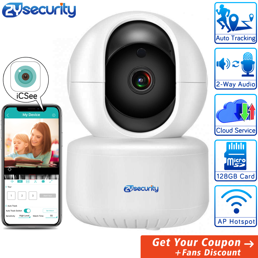 1080P WiFi Camera Smart Auto Tracking Wireless Home Security Cameras Intercom Alarm PTZ CCTV Video Surveillance IP Camera ICSee