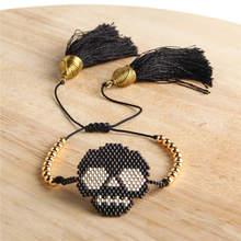 Go2boho MIYUKI Skull Bracelet Men Pulseras Mujer 2019 Bracelets Women Tassel Jewelry Homme Etsy Handwoven Japan Plastic Beadsc