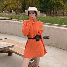 Женский свитер с открытыми плечами однотонный Повседневный трикотажный